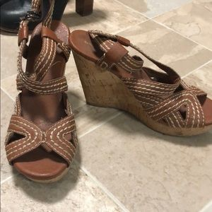 Brown wedges from banana republic